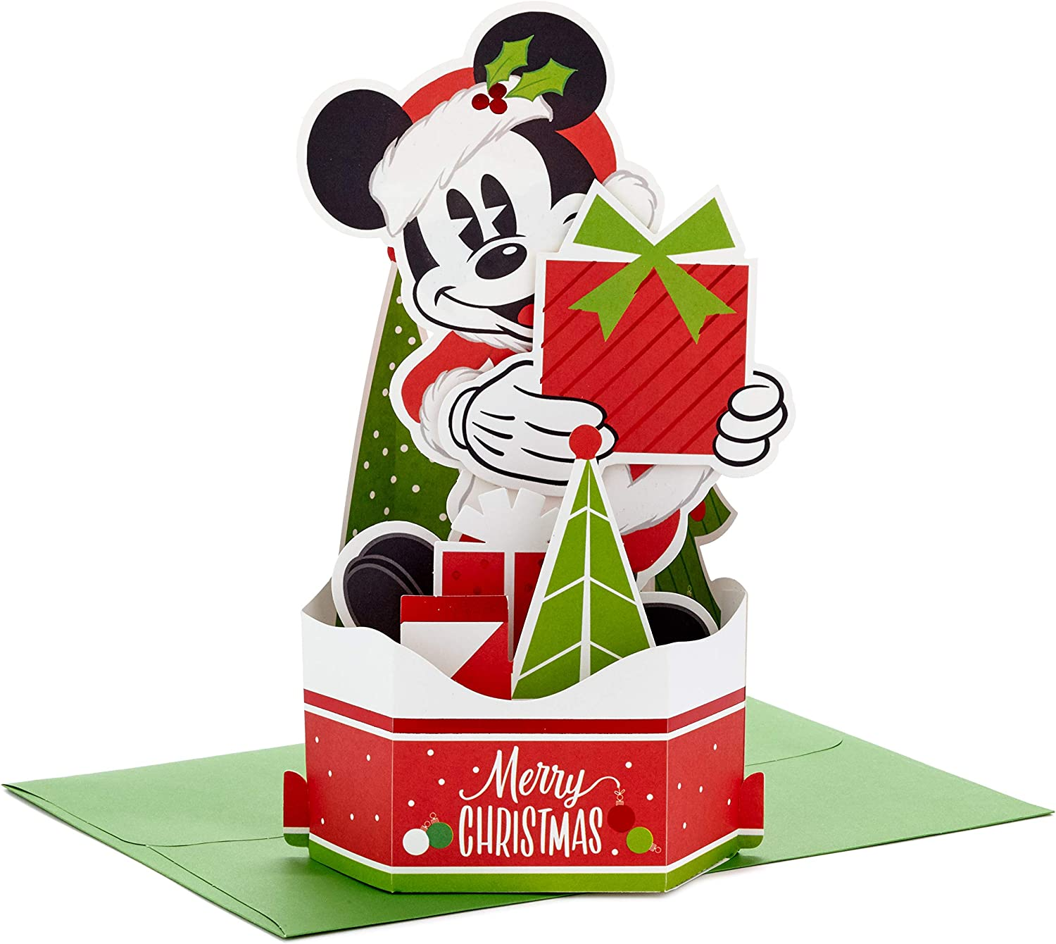 Charlie Brown Christmas Tree, Plays Christmastime is Here Hallmark Paper Wonder Peanuts Displayable Pop Up Christmas Card with Light and Sound