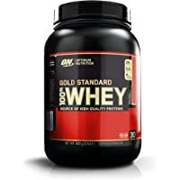 Optimum Nutrition Gold Standard Whey Protein Powder with Glutamine and Amino Acids Protein Shake by ON - Delicious Strawberry, 29 Servings, 908 g