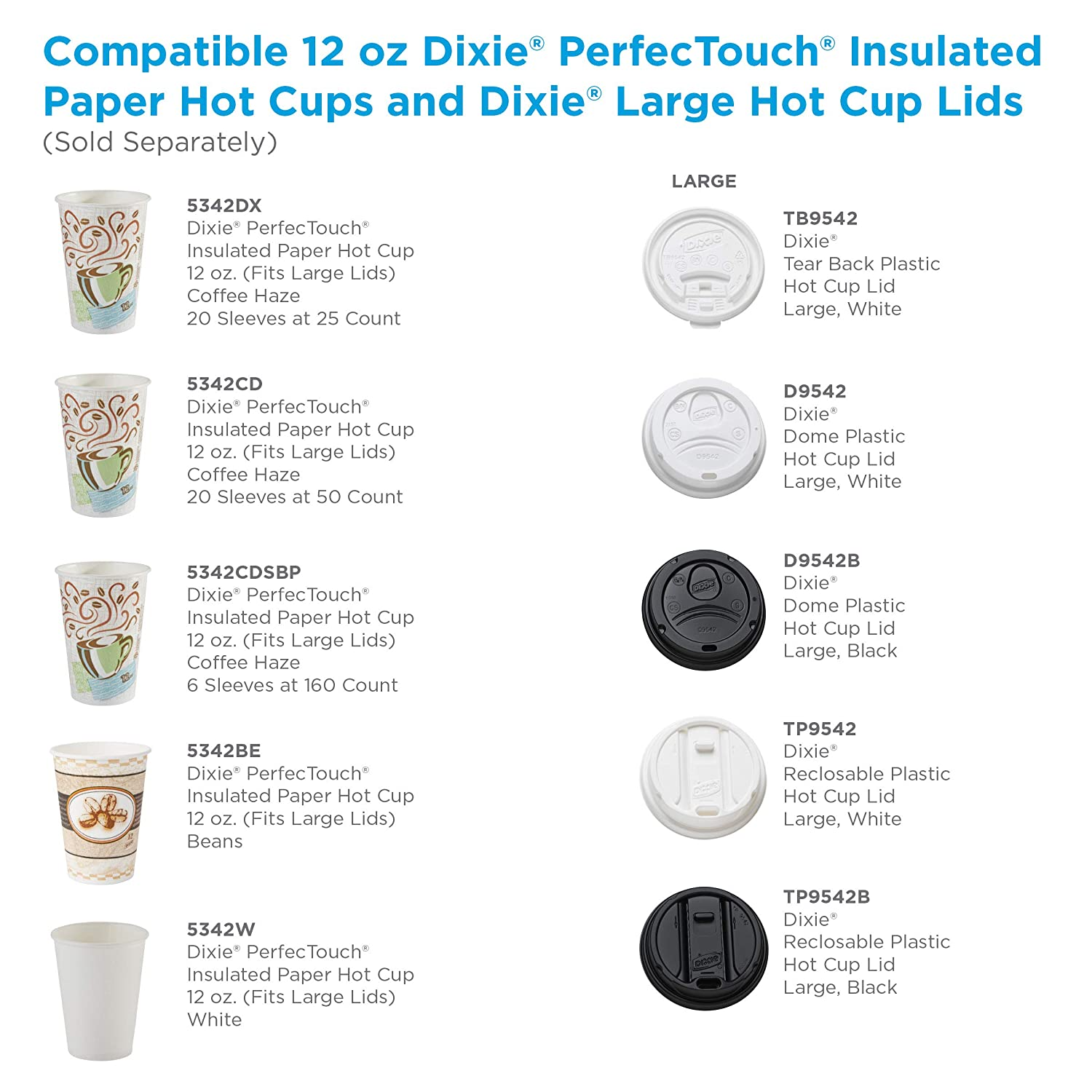 100 Cups Dixie 20 oz PerfecTouch Insulated Paper Hot Cold Coffee Haze Cup