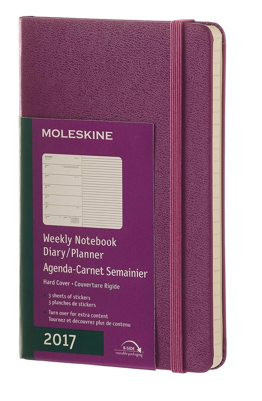 Moleskine DHK1312WN2Y17 - Agenda semanal 12 meses, pocket 9 x 14, color verde