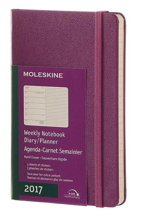 Moleskine DHB12WN3Y17 - Agenda semanal 12 meses, L 13 x 21 ...