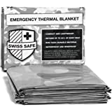 Emergency Mylar Thermal Blankets (4-Pack) + Bonus Signature Gold Foil Space Blanket: Designed for NASA, Outdoors, Hiking…