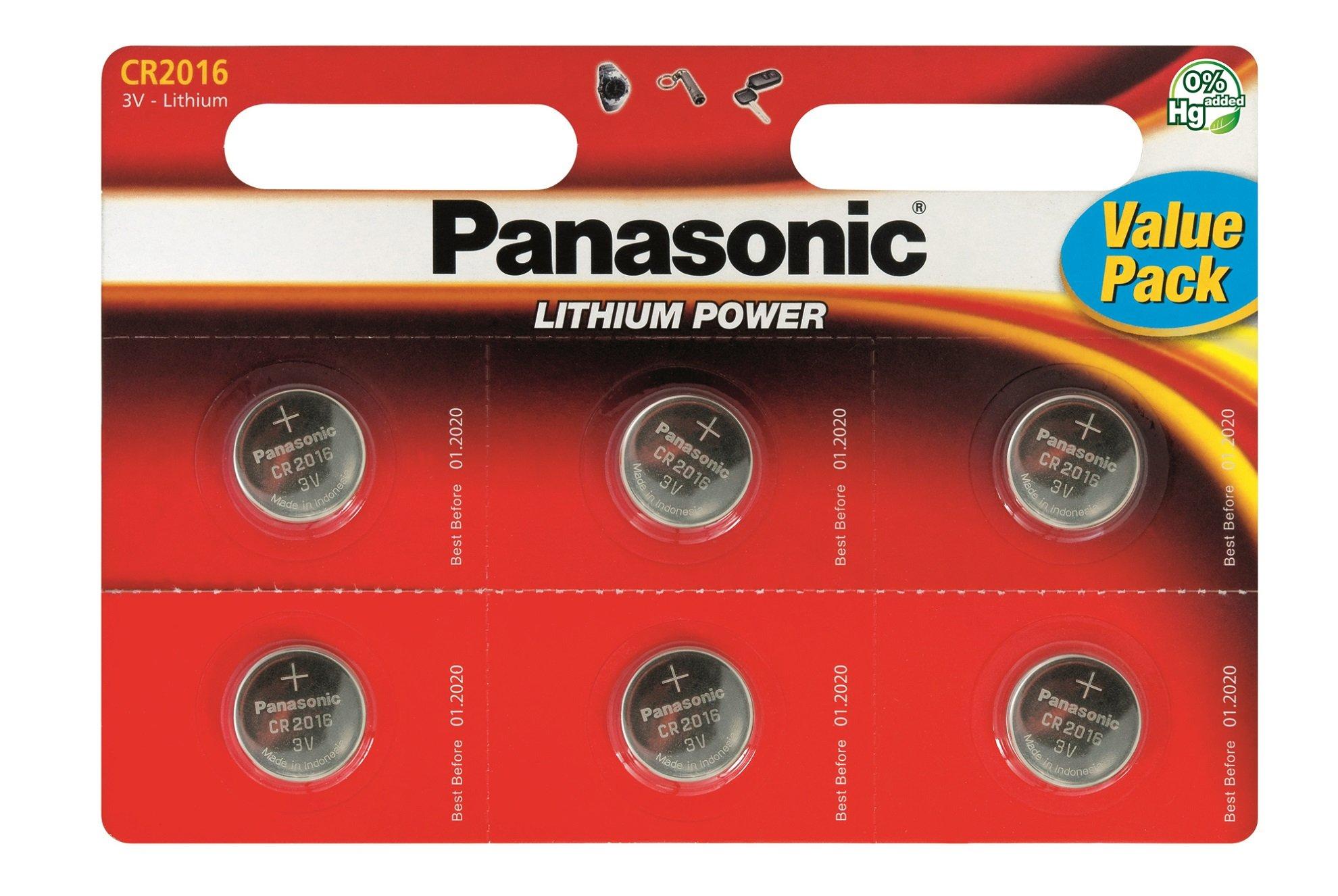 Panasonic Specialist Lithium Coin Batteries CR2016 x 12