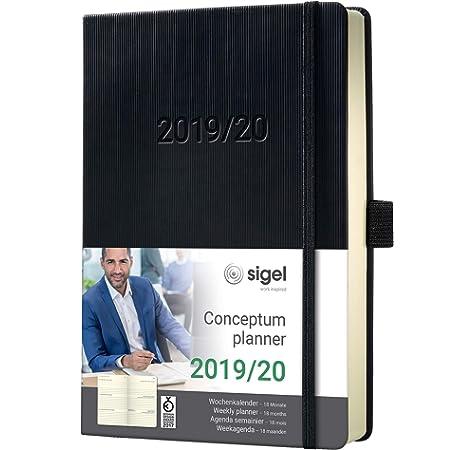 Agenda semanal 2020, tapa dura, A5, 18 meses, color verde ...