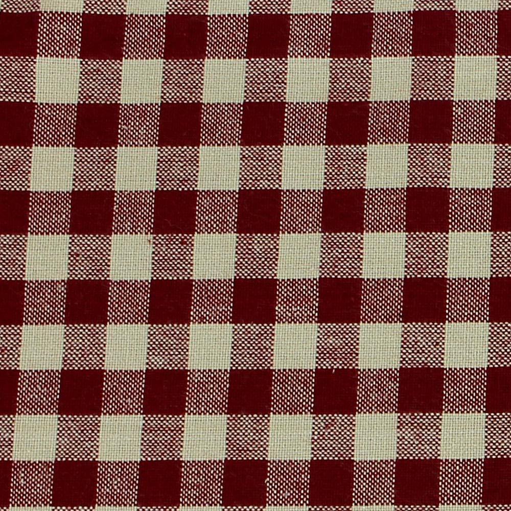 Primitive Home Decors Star Berry Vine Check Swag – Barn Red
