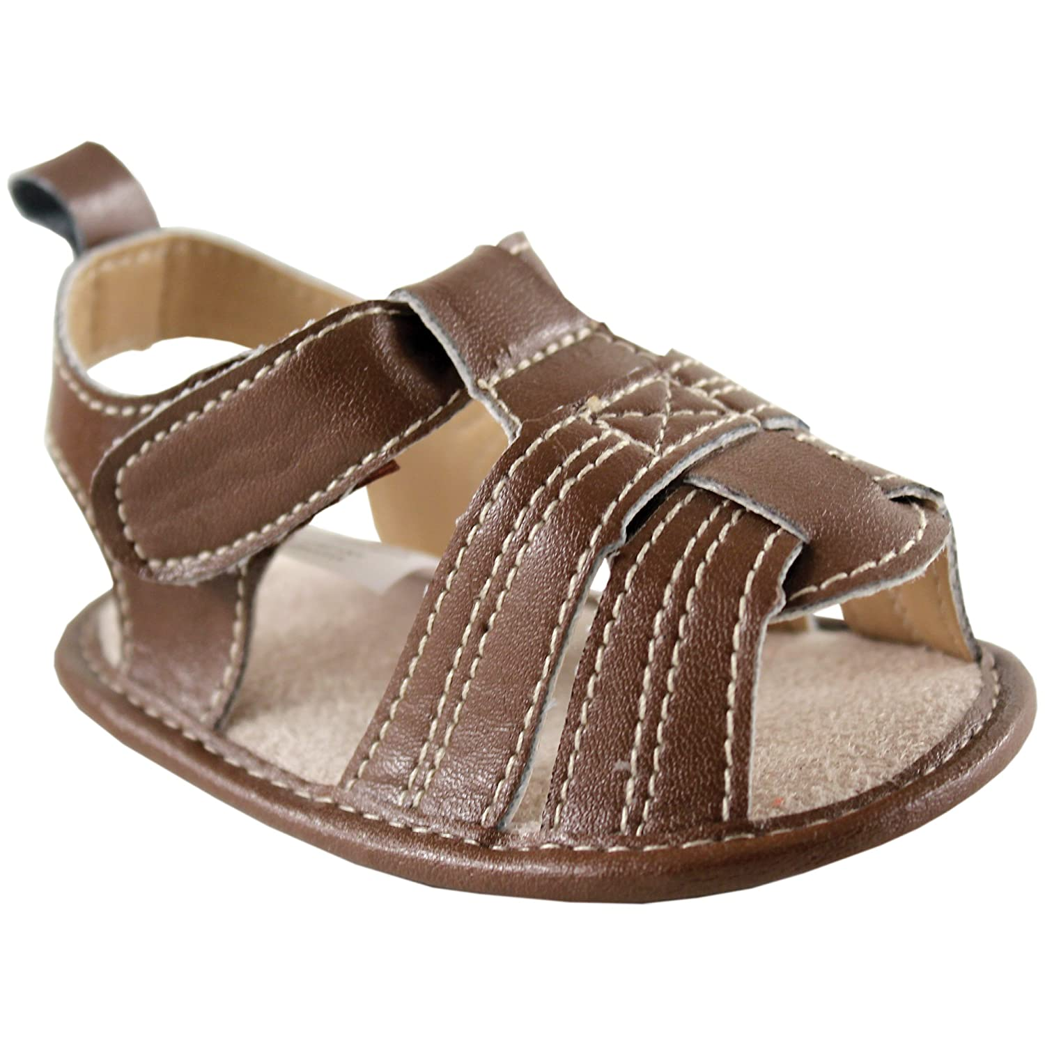 Luvable Friends Boy's Casual Sandal T Strap Sandal Boy' s Casual Sandal - K