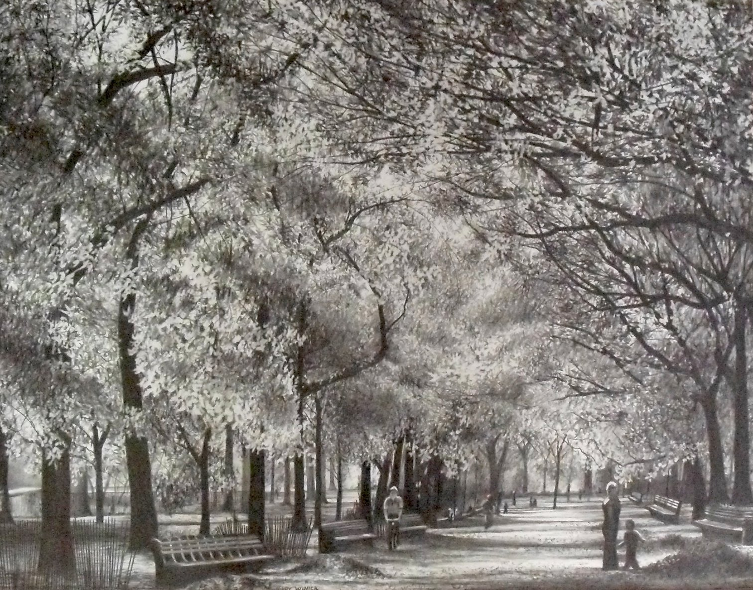 Autumn in New York by Pencilworks Studio- Pencil Drawings by Jerry Winick