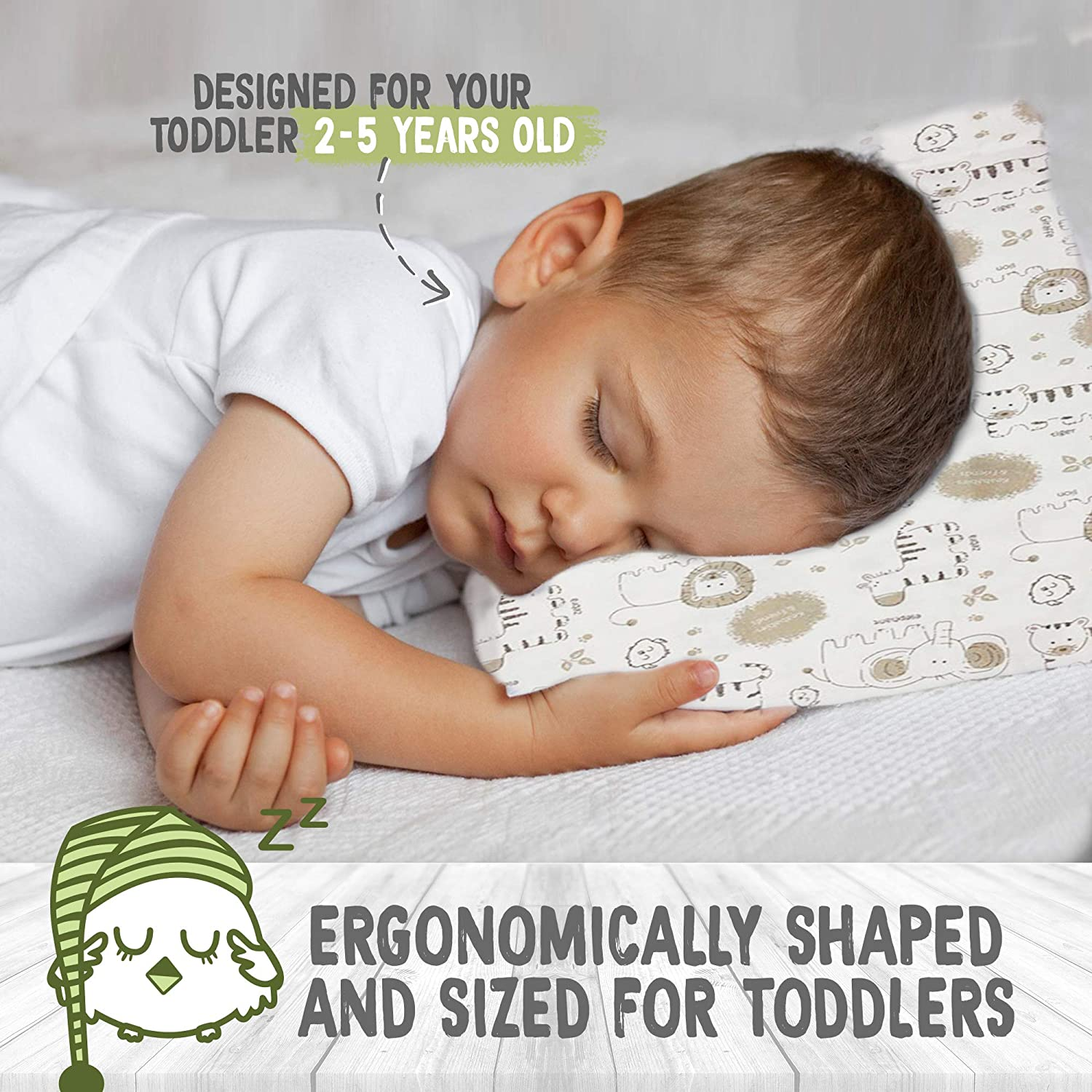 Kids 2 - 5 Years Cotton Pillow for Sleeping
