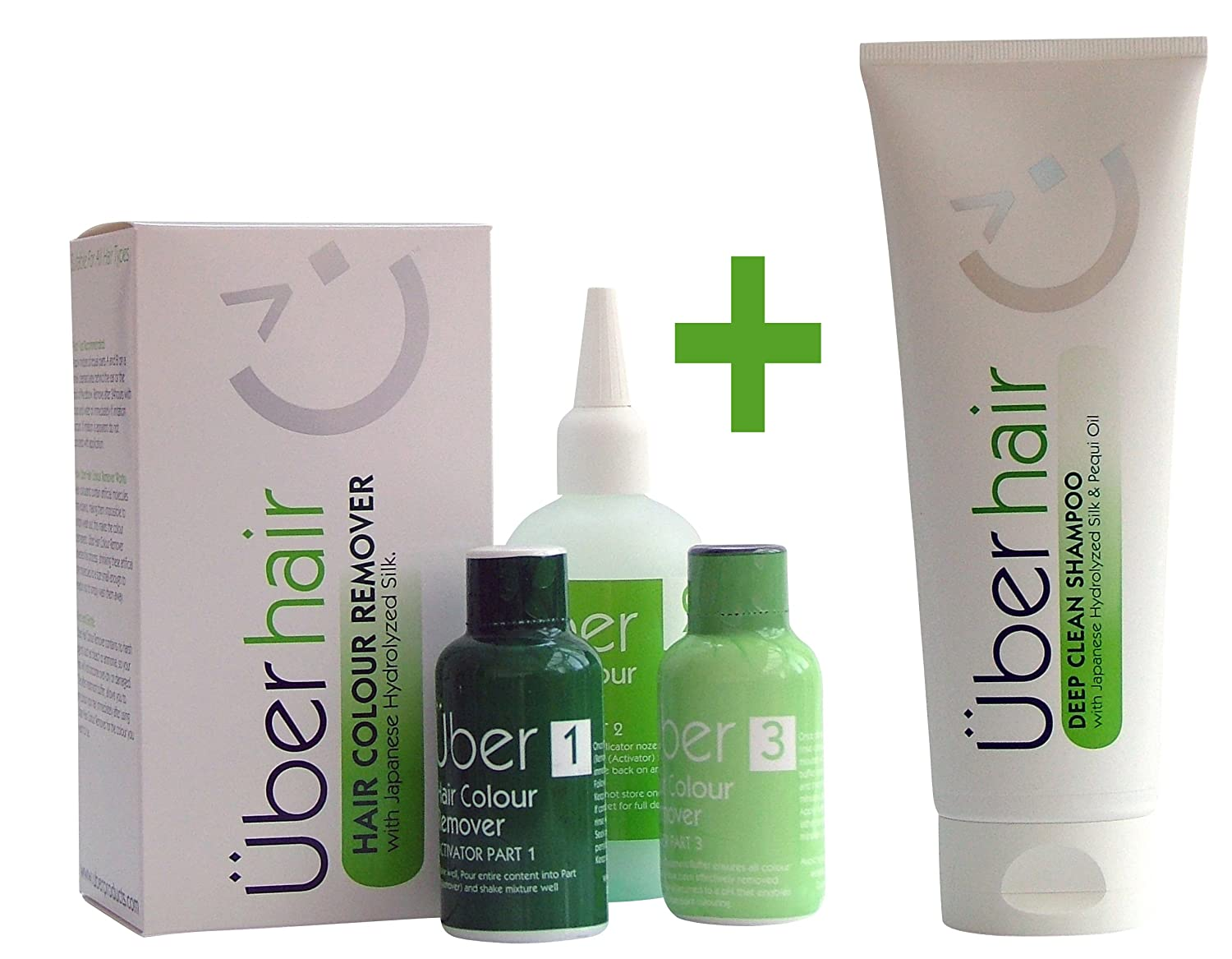 Bundle: Hair Colour Remover + Deep Clean Shampoo Über Products