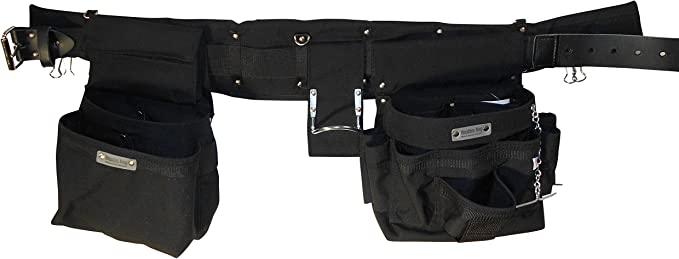 """Boulder Bag 104XL-GR Electrician Comfort Combo w/Metal Buckle Belt Size Extra Large 40"""" to 44"""" .Color Gray. Made in U.S.A."""""""