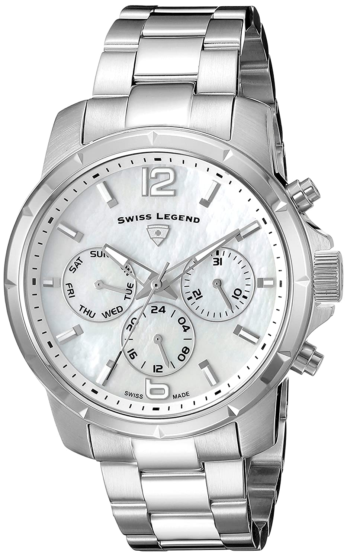 Swiss Legend Legasea Damen-Armbanduhr 38mm Armband Edelstahl + GehÄuse Schweizer Quarz Analog 16526SM-22