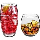 Argon Tableware Tondo 12 Piece Hiball & Tumbler Glasses (510ml & 405ml). Everyday Glassware Set.
