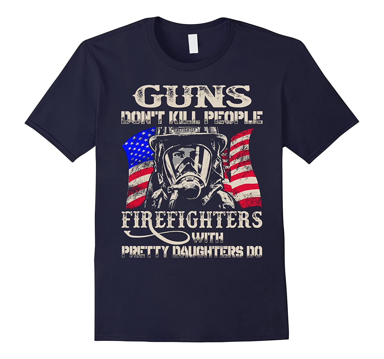 BeeTee: Guns Don't Kill People. Firefighter Does T-Shirt-T-Shirt