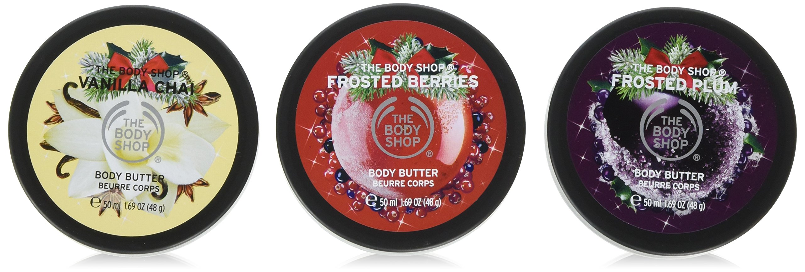 The Body Shop Limited Edition Seasonal Body Butters Trio Spinner Gift Set, 3pc Set of Travel Size Assorted Body Butters