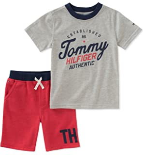 6a141869 Amazon.com: Tommy Hilfiger Baby Boys 2 Pieces Creeper Polo Shorts ...