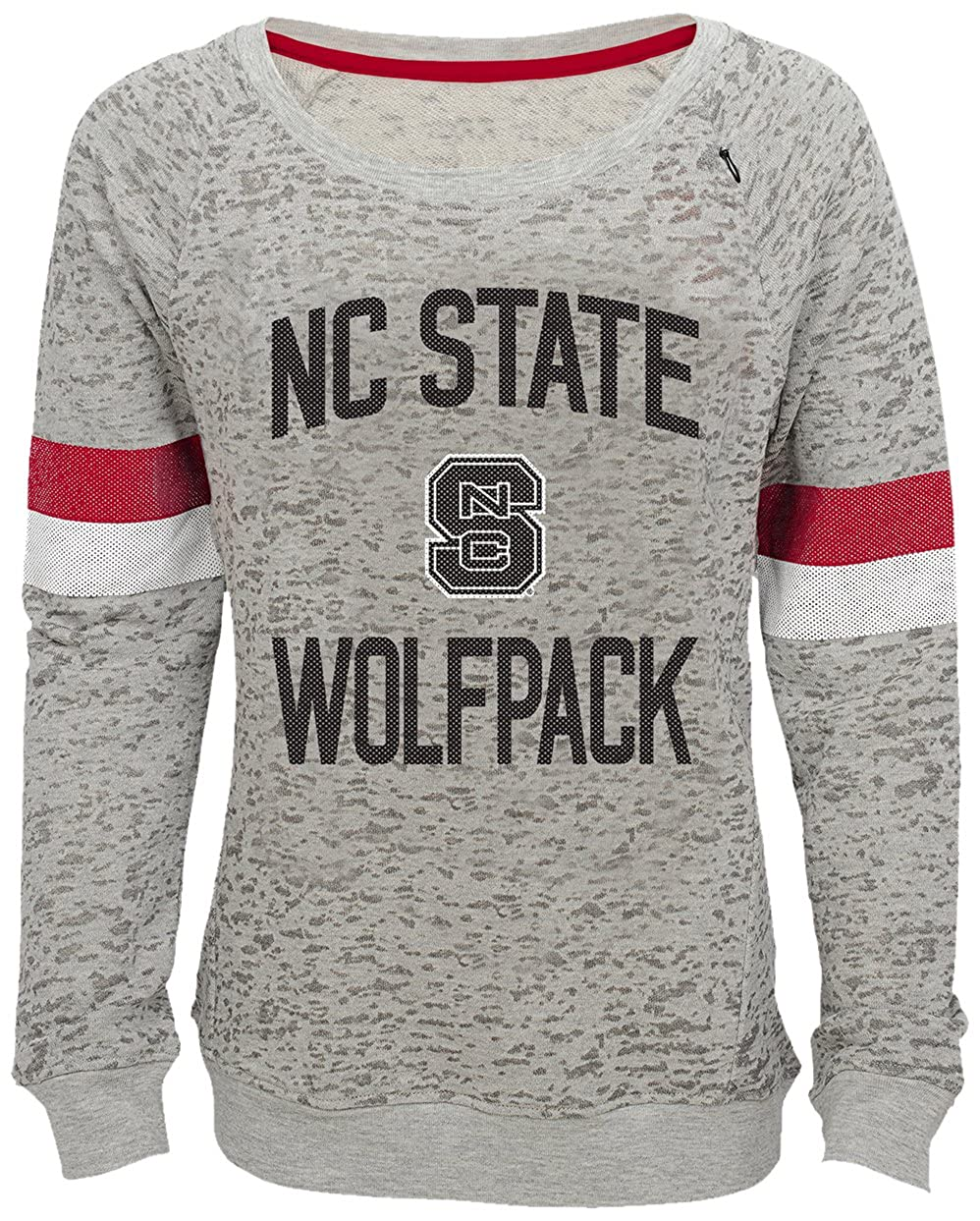 14 Heather Grey Youth Large NCAA by Outerstuff NCAA North Carolina State Wolfpack Youth Girls My City Boat Neck Pullover