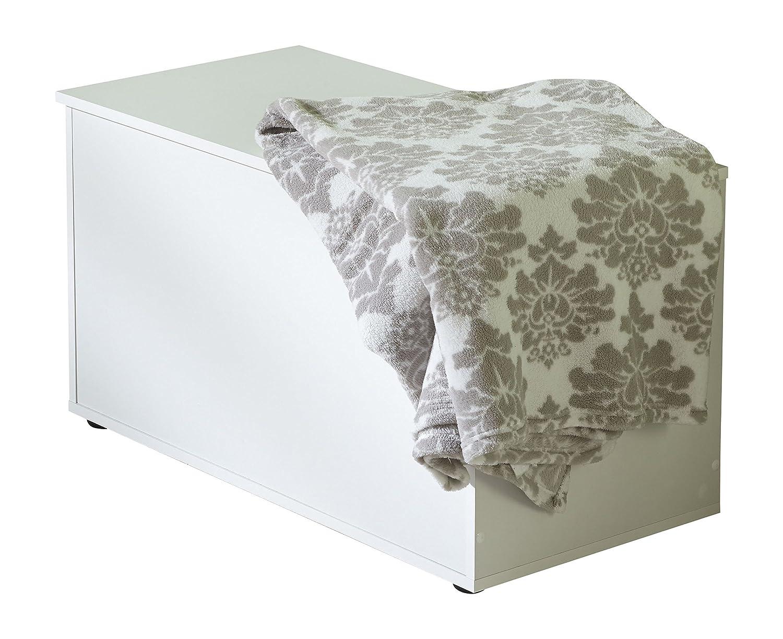 WILMES 49055-75 0 75 Truhe mit Klappe Dekor Melamin, 84 x 46,5 x 42 cm, weiß weiß