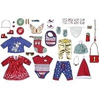 Zapf Creation 828472 BABY Born adventskalender met 24 kleding- en accessoireverrassingen voor BABY Born…
