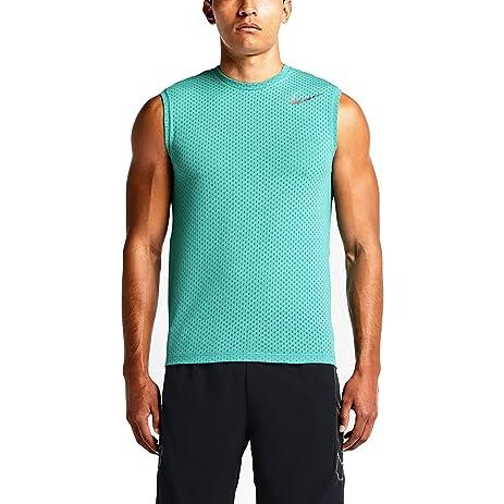 Nike Mens Dri-FIT Cool Training Tank Top Light Retro Green Silver Large