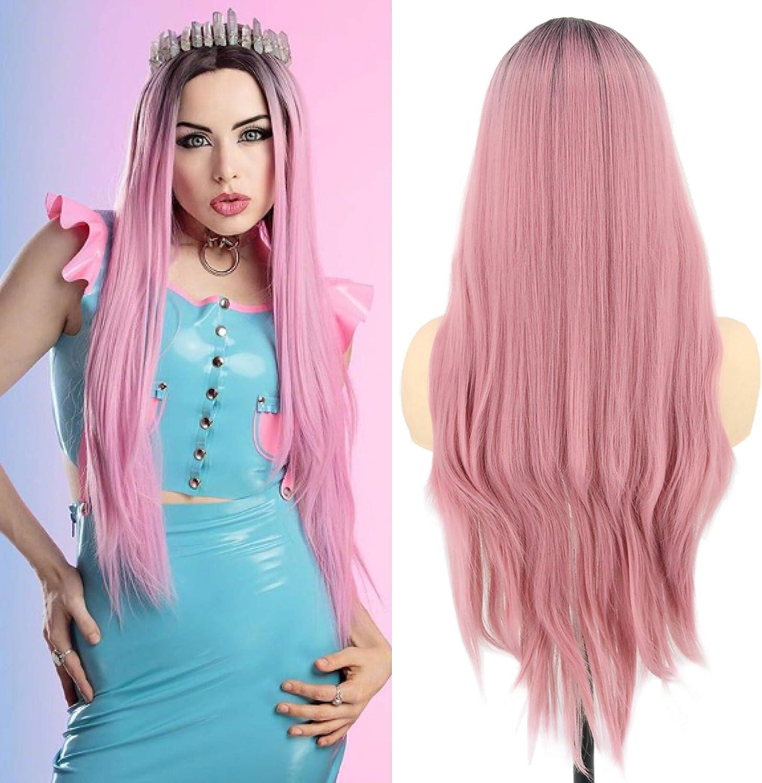 Topcosplay Perruque Blonde Droite pour Femmes 21 Longue Perruque Naturelle pour Halloween Carnaval D/éguisement