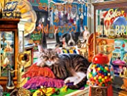 Buffalo Games - Cat's Collection - Curiosity Shop Cat - 750 Piece Jigsaw Puzzle