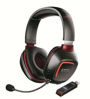 Creative Labs Sound Blaster Tactic3D Wrath RF inalámbrico Binaurale Diadema Negro auricular con micrófono - Auriculares