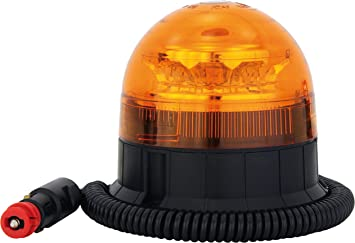 Adluminis Led Rundumleuchte Orange Mit Magnetfuß Blinkleuchte 12v 24v Ece R65 Straßenverkehr Zulassung Kfz Warnleuchte Auto