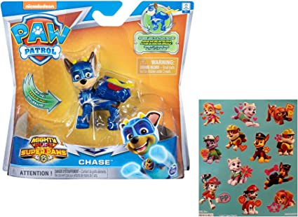 PAW Patrol Mighty Pups Super Paws Chase Action Figures New