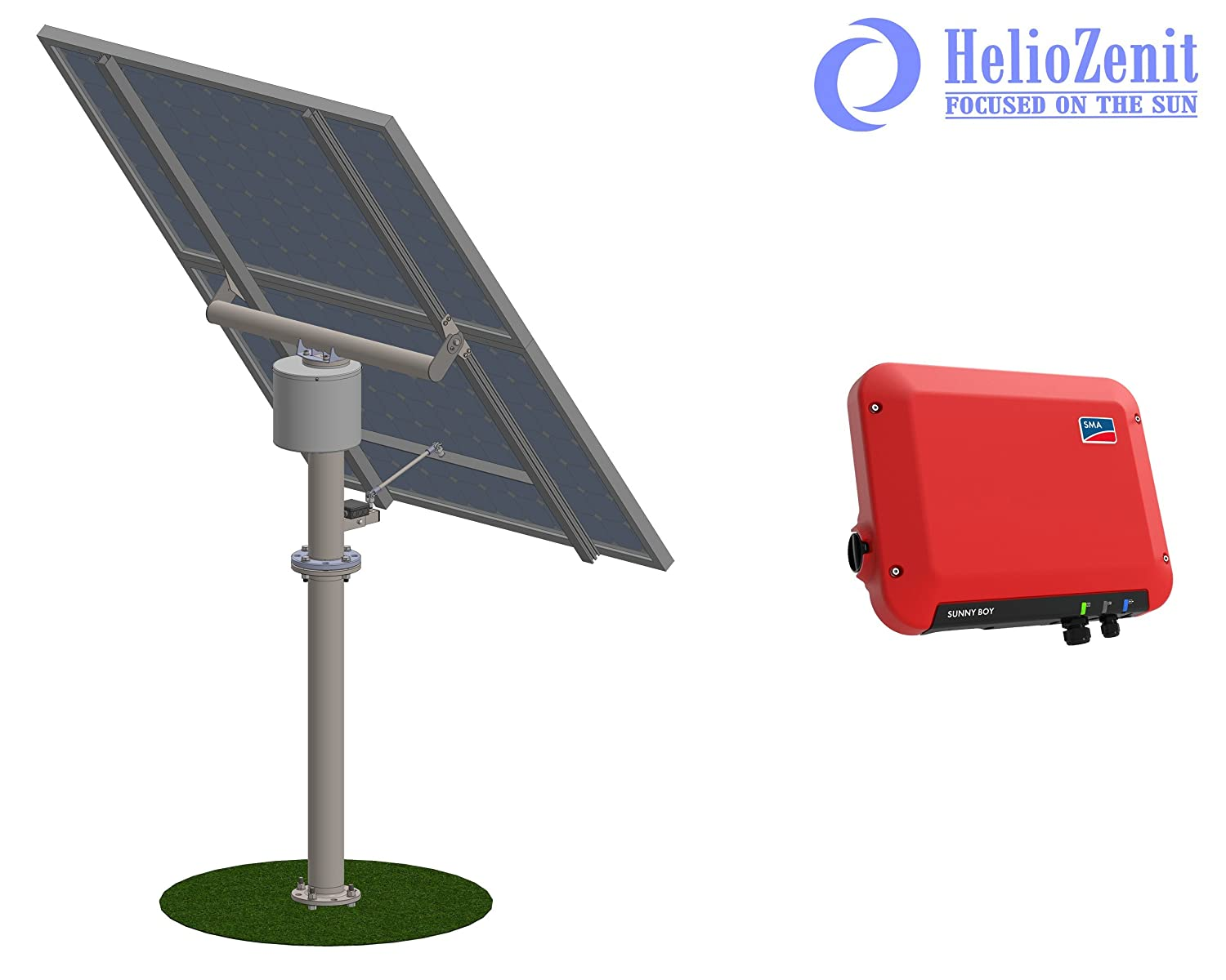 Tracking Solar Power Plant for Ground Installation with