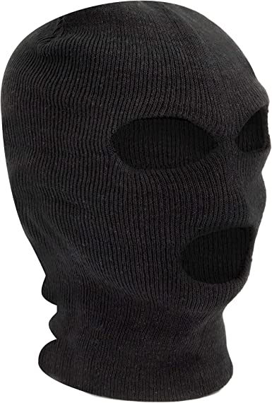 Winter Knitted Balaclava 3 Hole Face Mask SAS Style One Size