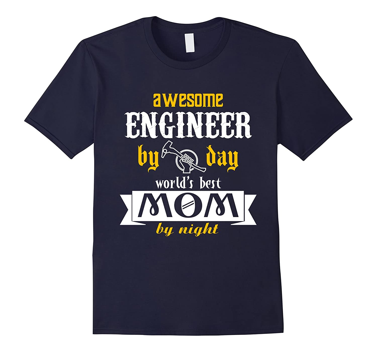 Engineer By Day Mom By Night Funny Engineering Tshirt Women-TH