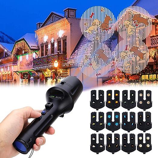 Luces de Proyector Navidad LED, ALED LIGHT Linterna Portátil ...