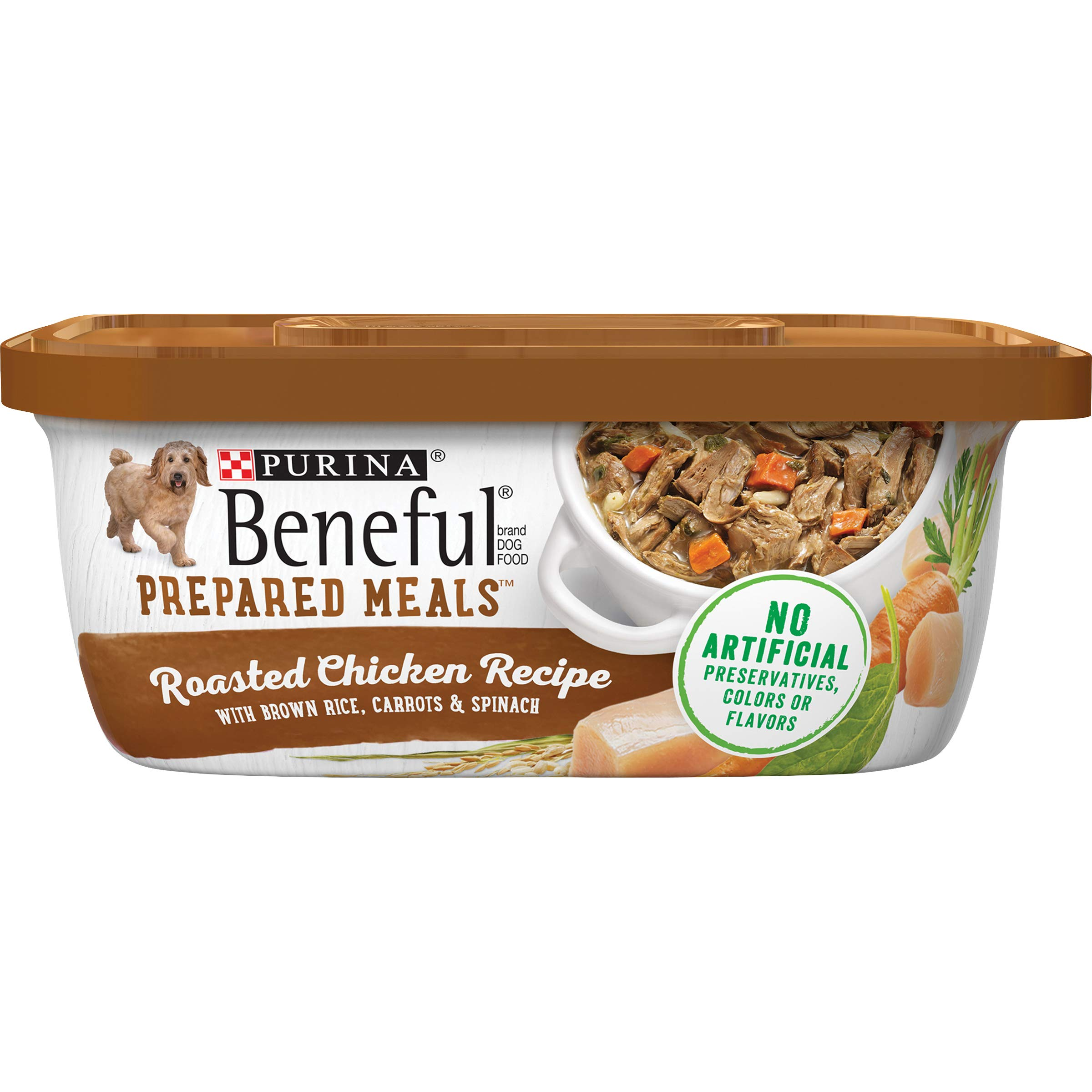 Purina Beneful Gravy Wet Dog Food, Prepared Meals Roasted Chicken Recipe - (8) 10 oz. Tubs