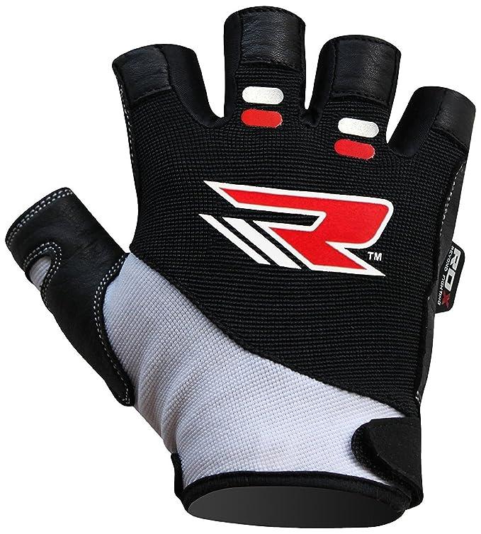RDX WGA-S3W - Gimnasio guantes musculacion para hombre, color negro, talla M: Amazon.es: Deportes y aire libre