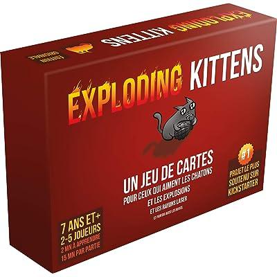 Asmodee Exploding Kittens, ekek01fr, Juego de Cartas: Juguetes y juegos