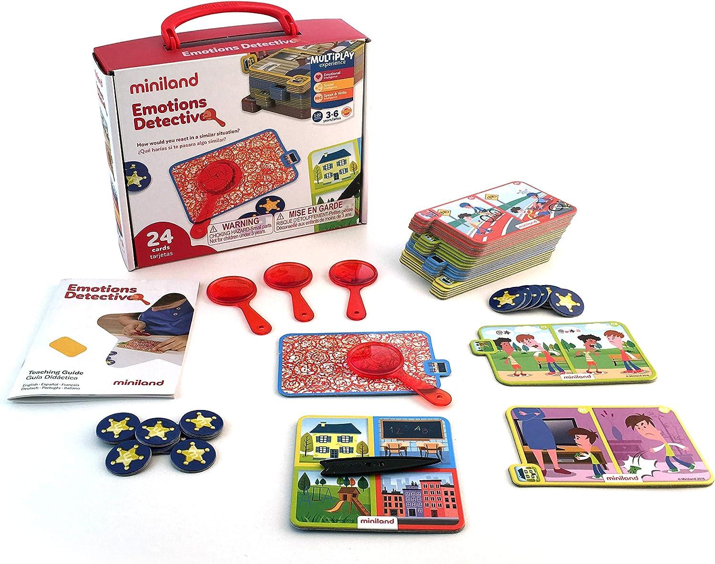 Miniland- Divertido Juego para Aprender la resolución de conflictos y emociones, Multicolor (45402): Amazon.es: Juguetes y juegos