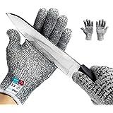 Schnittschutzhandschuhe Haushaltshandschuhe Arbeitshandschuhe lebensmittelecht schnittfeste Touchscreen Anti-Rutsch Grip Handschuhe arbeit Schutzhandschuhe für Messer zu schärfen, Holz zu schnitzen, Reparatur, Schneiden, Mechaniker - Hochleistung Level 5 Handschutz Schnittschutz Grau (L)