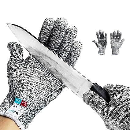 alta moda famoso marchio di stilisti 2019 professionista Guanti Antitaglio InnoBeta guanti di sicurezza da lavoro, guanti  antiscivolo Touch screen, guanti da cucina resistenti al taglio Protezione  di Livello ...