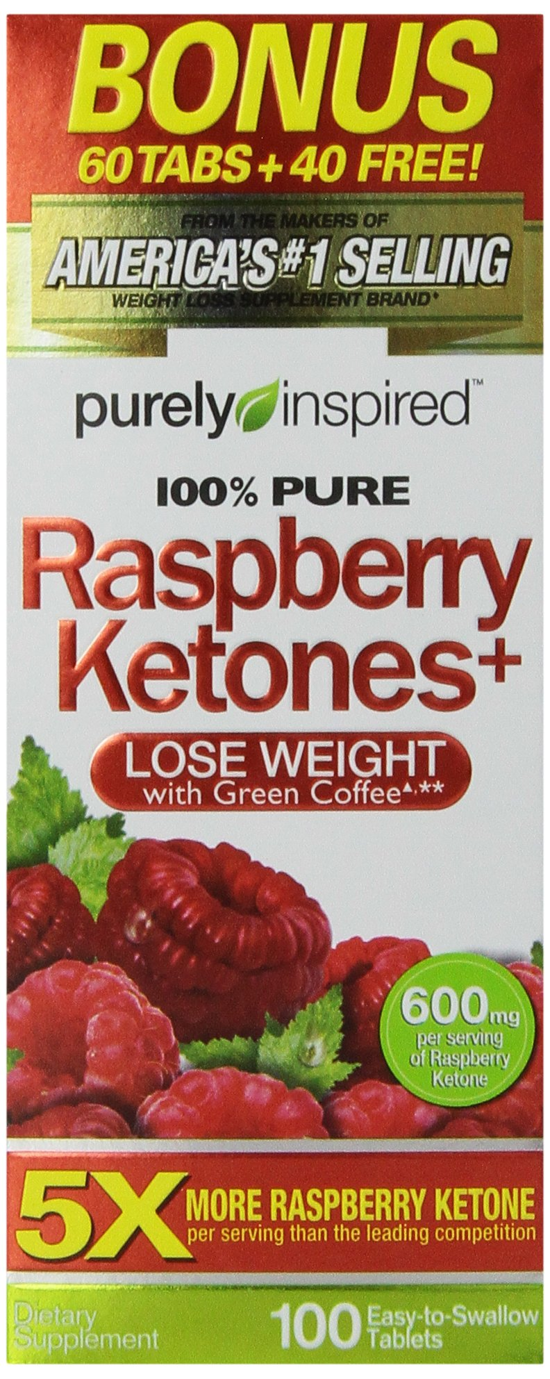 Purely Inspired Raspberry Ketones, 100 Count