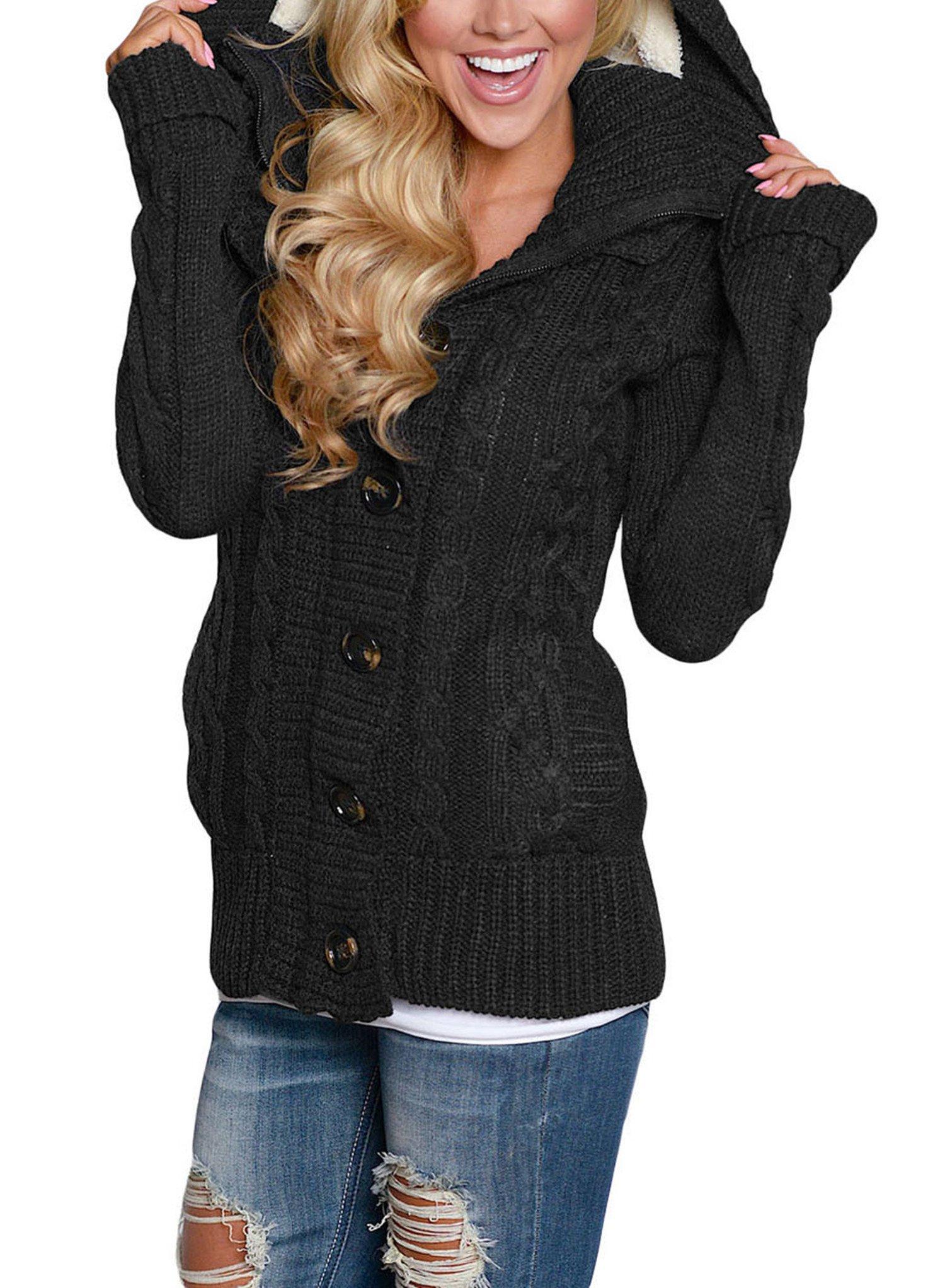Sidefeel Women Hooded Knit Cardigans - TiendaMIA.com 26adb0a28