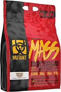 Mutant Mass Weight Gainer Protein Powder – Build Muscle Size and Strength with 1100 Calories – 56 g Protein – 26.1 g EAAs – 12.2 g of BCAAs – 15 lbs – Coconut Cream
