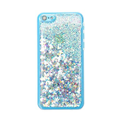 check out 66c00 98b99 Claire's Girls and Womens Iridescent Glitter Iphone Case 5C: Amazon ...