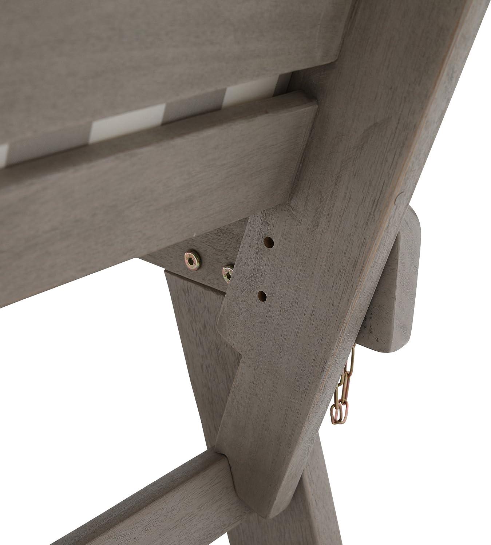 Wei/ß greemotion Gartenbank HAWAII aus Holz inkl Auflagen Terrasse /& Balkon Multifunktionsbank f/ür bis zu 2 Personen Outdoor Gartensofa mit klappbarer Armlehne f/ür Garten