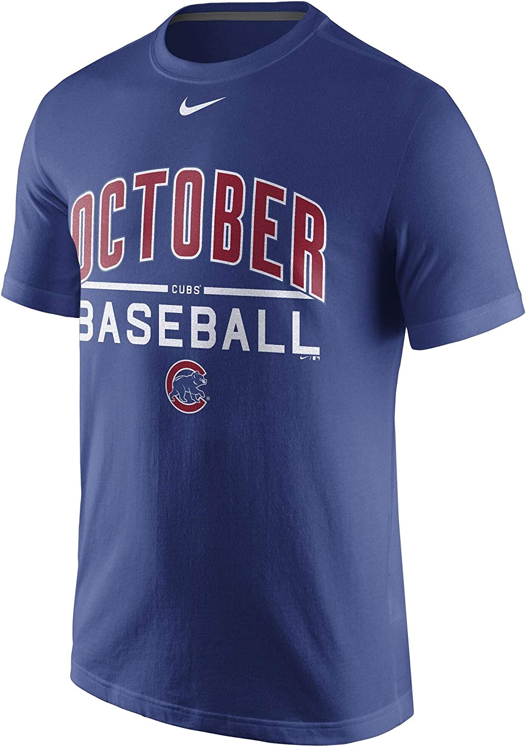 XX-Large Nike Mens Chicago Cubs Royal 2016 Postseason October Baseball Playoff T-Shirt