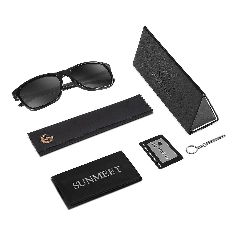 efe205f5bda6 Polarized Wayfarer Sunglasses for men - SUNMEET Mens Vintage Sun Glasses  UV400 S1001(Black Black)  Amazon.ca  Clothing   Accessories