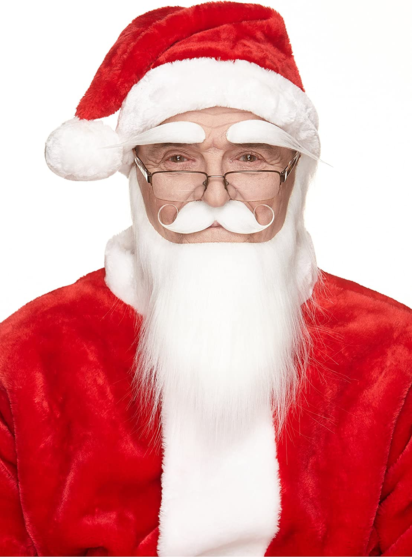 Amscan 392075 Christmas Santa Self Adhesive Facial Hair Beard