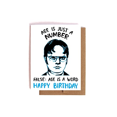 amazon com dwight schrute birthday card the office bday card