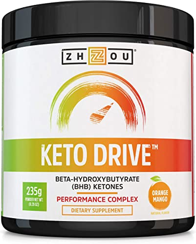 Keto Drive Exogenous Ketone Performance Complex – BHB Salts – Formulated for Ketosis, Energy and Focus – Patented Beta-Hydroxybutyrates Calcium, Sodium, Magnesium – Orange Mango