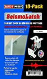 New SeismoLatch Earthquake Activated Cabinet Latch (White-10 Pack)
