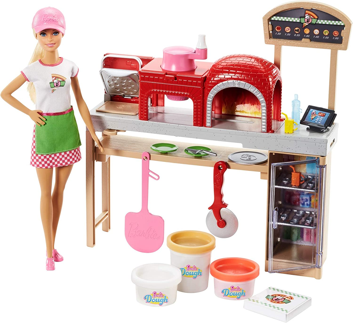 Amazon Com Barbie Pizza Chef Doll And Playset Toys Games